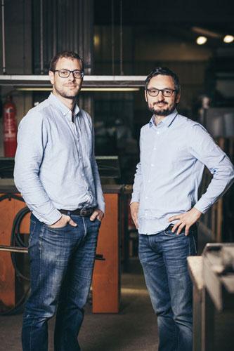 Sébastien Saint-Georges et Bruno Bouffier - Gérants BFM - outils et machines pour le cuir