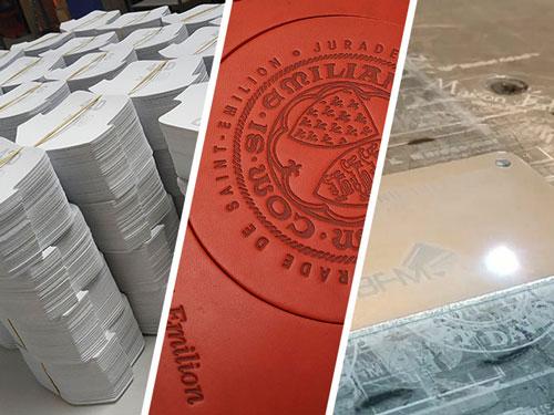Prestations de découpe, marquage à chaud sur cuir et impression laser réalisées par BFM